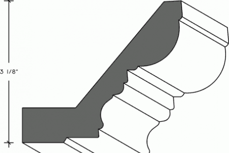 316 - Traditional Crown Moulding with Nailing Strip