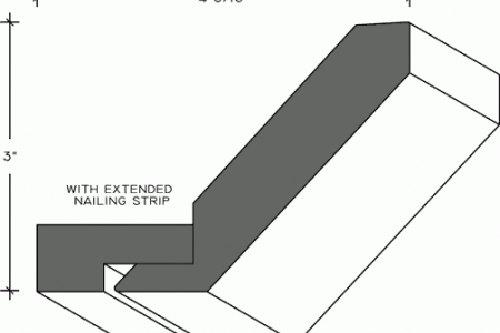 569b - Shaker Crown Moulding with Nailing Strip