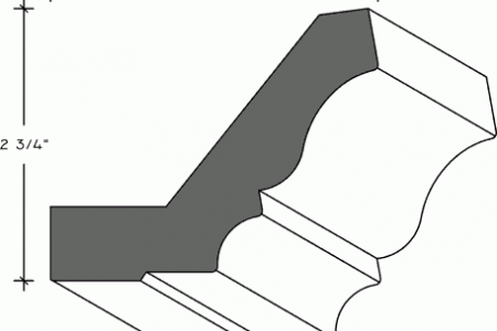 303-01 - Large Crown Moulding with Nailing Strip