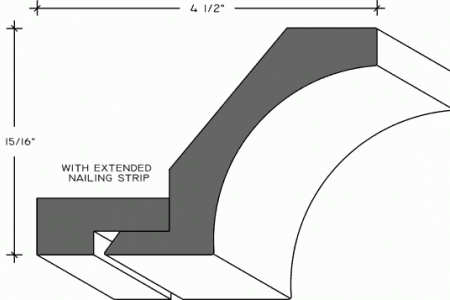 859b - Cove Crown Moulding with Nailing Strip