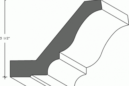 302-01 - Crown Moulding with Nailing Strip